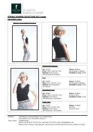 SPRING/SUMMER COLLECTION 2011 Image GOLFINO Ladies
