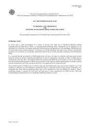 ECC REC(11)03 - Numbering and Addressing for M2M ... - Cept
