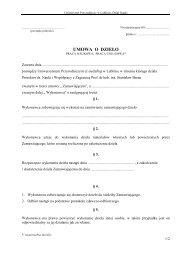 UMOWA O DZIEŁO - Dział Nauki i Współpracy z Zagranicą - Lublin