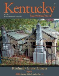 to download the 2011 Kentucky Humanities Fall Issue
