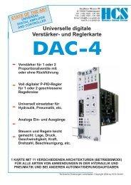 DAC-4 - HCS - Hydraulic Control Systems GmbH