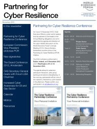Partnering for Cyber Resilience - World Economic Forum