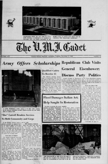The Cadet. VMI Newspaper. December 09, 1966 - New Page 1 ...