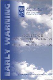 narrative early warning report - UNDP in Tajikistan