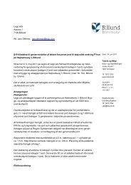 Tilladelse til etablering af støjvold på adressen ... - Billund Kommune