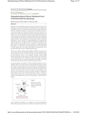 direct methanol fuel cell thesis
