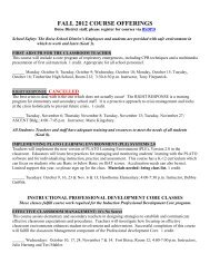 FALL 2012 COURSE OFFERINGS - Boise Independent School District