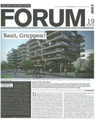 ARCHITEKTUR 8. BAU FORUM - RWT