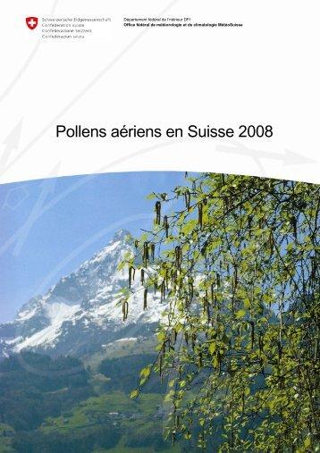 Pollens aériens en Suisse 2008 (pdf, 1,5MB)