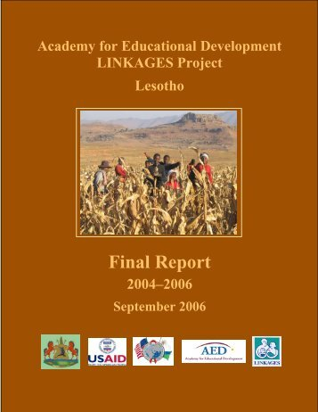 Final Report - Linkages Project