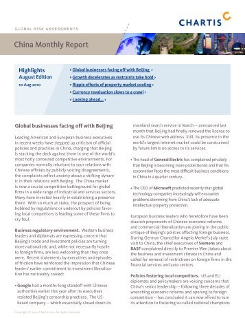 China Monthly Report - Marketing Index File - Chartis