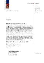 Grønt Dialogforums medlemmer 7. april 2011 Referat fra møde i ...