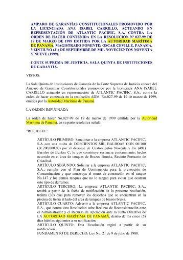 APSA - Autoridad Marítima de Panamá