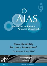 More Flexibility for More Innovation? Evidence from the ... - AIAS