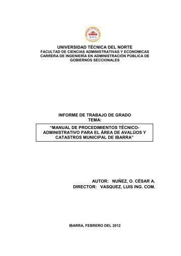 UNIVERSIDAD TÉCNICA DEL NORTE INFORME ... - Repositorio UTN