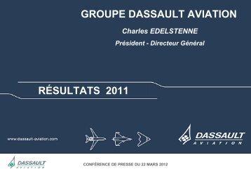 Présentation Résultats 2011 - application/pdf - Dassault Aviation