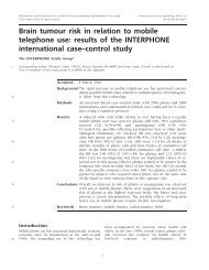 Results of the INTERPHONE International Case - Control