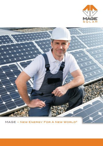 Brochure for craftsmen - Mage Solar