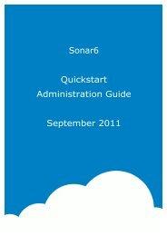 Sonar6 Quickstart Administration Guide September 2011