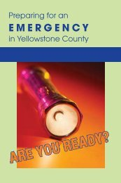 Preparing for an Emergency in Yellowstone County