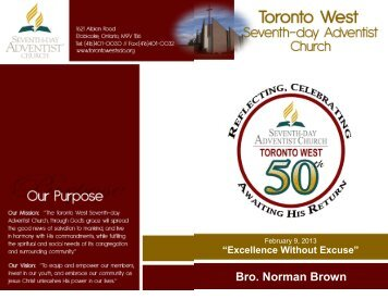 Bro. Norman Brown - Toronto West Seventh Day Adventist Church