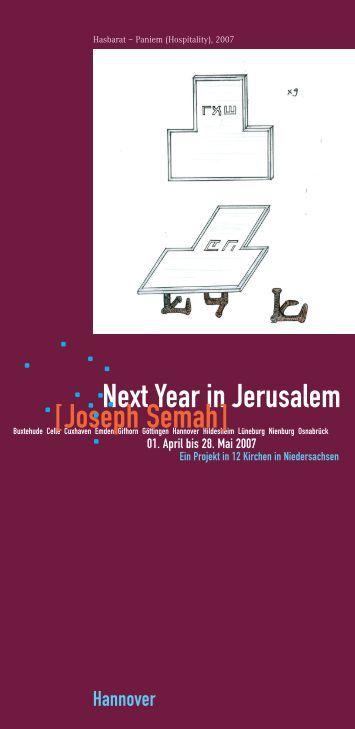 Next Year in Jerusalem [Joseph Semah] - St. Johannis Bemerode