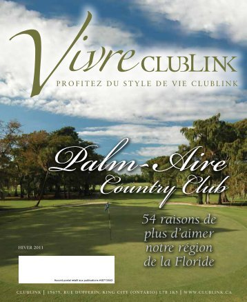 L'hiver 2011 - Clublink Corporation