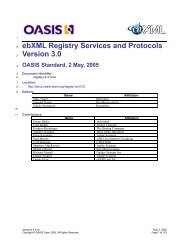 ebXML Registry Services and Protocols Version 3.0 - OASIS Open ...
