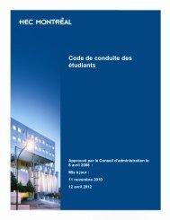Code de conduite - HEC Montréal