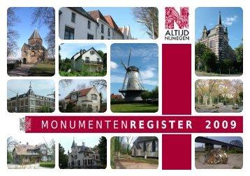 Monumentenregister 2009 - Gemeente Nijmegen