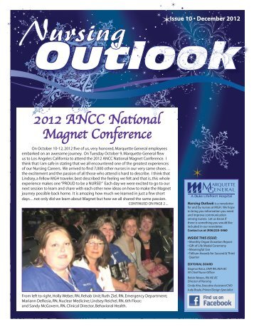 Nursing Outlook Newsletter WINTER 2012.indd - MGHS - Marquette ...