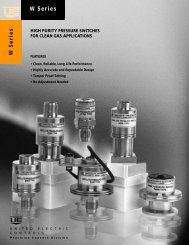 Absolute Pressure Switches E17W Series