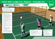 Volleyball challenge card - School Games