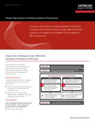 Choose from 2 Pathways to Earn AMS 2000 ... - Hitachi Data Systems