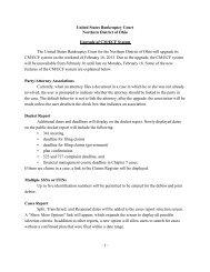ECF Upgrade Notice - Northern District of Ohio