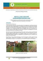 installatie van een aardwarmtewisselaar - Leefmilieu Brussel