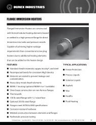 FLANGE IMMERSION HEATERS - Durex Industries