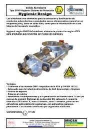 válvula rotativa SRVP-Hygienic Sistema de protección