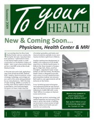 New & Coming Soon... - Alice Hyde Medical Center