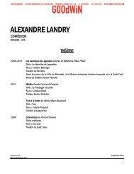 ALEXANDRE LANDRY - Agence Goodwin