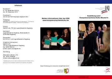 Die Gesamte Ausschreibung als pdf-Flyer - LKJ SH eV