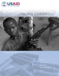 Youth and Conflict - A Toolkit for Intervention - INEE Toolkit