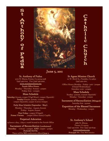 6/05/11 - St. Anthony of Padua Catholic Church