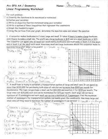 Worksheet Linear Programming Worksheet 1 free magazines from reeths puffer net linear programming worksheet solutions pdf moodle