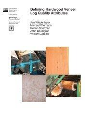 Defining Hardwood Veneer Log Quality Attributes - USDA Forest ...