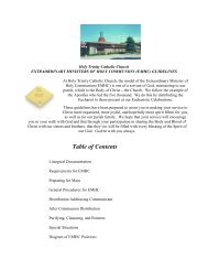 Extraordinary Ministers of Holy Communion (XM) Guidelines