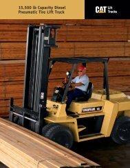 15,500 lb Capacity Diesel Pneumatic Tire Lift Truck - King Equipment