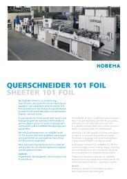 querschneider 101 foil sheeter 101 foil - HOBEMA Maschinenfabrik
