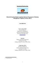 Streamlining the Global Logistics Service Processes at Nanjing ...