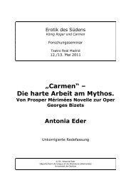 """Carmen"" – Die harte Arbeit am Mythos."